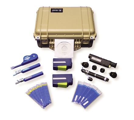 Набор для диагностики и очистки волоконно-оптических соединителей, включая соединители MPO