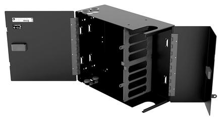 Настенный монтажный бокс серии WB2 на 8 кассет G2 двусекционный с дверцами, ВхШхГ: 280х330х153
