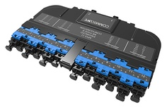 Модуль EHD ULL 12LC Duplex/2xMPO12(m), OS2 TeraSPEED® выравнивающие штырьки: да, пылезащитные заглушки: да, цвет: синий