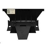 FiberGuide® крышка для Downspout из 150х100 мм в 100x100, цвет: чёрный