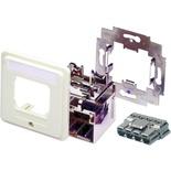 Розетка AMP CO™ Ultra DIN 68x68 мм, ввод кабеля: сверху, слева или справа, цвет: миндальный (RAL 1013)