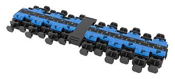 Адаптерная планка EHD 12xLC Duplex UPC, SM, цвет: синий
