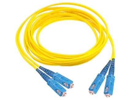Коммутационный шнур SC-UPC/SC-UPC-дуплексный 2.5мм, OS2, оболочка: LSZH, цвет: жёлтый, длина м: 2