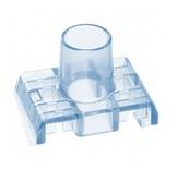 Прозрачная крышка для контактного блока гнезд SL-типа Cat.5e, цвет: голубой