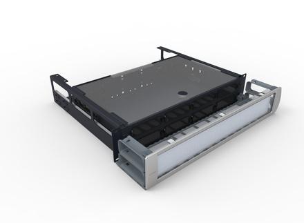 Выдвижная коммутационная панель Systimax 2RU до 8xG2 модулей с фронтальным кабельным органайзером