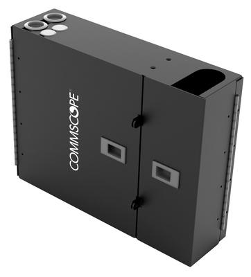 Настенный монтажный бокс серии WB2 на 4 кассеты G2 двусекционный с дверцами, ВхШхГ: 280х330х110