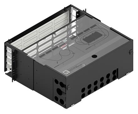 Коммутационная панель серии EPX фиксированная закрытая, до 16 модулей G2, до 192 LC Duplex, высота: 4RU