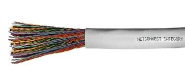 Кабель 100-парный UTP Cat.3 24 AWG, диаметр: 20, оболочка: PVC CMR Rated, цвет: серый, -20-+60 град., уп.: катушка 305 м