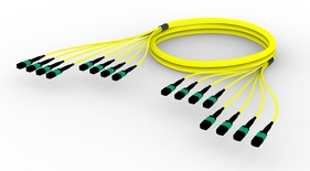 Претерминированный кабель MPOptimate® ULL 96 волокон OS2 G.657.A2 8хMPO12(m)/8хMPO12(m), APC, UltraLowLoss, изоляция: Plenum, Полярность: метод А, t=-10-+60 град., цвет: жёлтый, Длина м.: 3