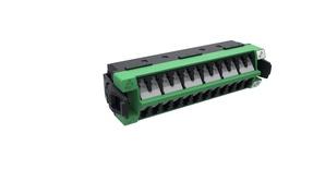 Адаптерная планка 360 G2 12xLC APC Duplex SM, шторки: да, цвет: зелёный, уп.: 5