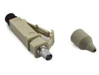 Клеевой соединитель LC Simplex, Наконечник: керамика, Хвостовик на кабель: 0,9 мм, Тип волокна: ММ, цвет: бежевый