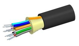 Внутренний оптический кабель, кол-во волокон: 2, Тип волокна: OM3 LazrSPEED® 300 буфер 900мк, конструкция: ODC, изоляция: LSZH Riser, EuroClass: Dca, диаметр: 3,71 мм, -20 - +70 град., цвет: чёрный