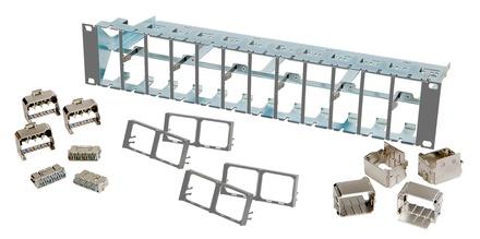 Коммутационная панель AMP CO™ Ultra High Density 24 порта, высота: 2RU, wвет: светло-серый (RAL 7035)