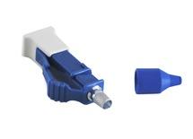 Клеевой соединитель LC Simplex, Наконечник: керамика, Хвостовик на кабель: 0.9 мм, Тип волокна: SМ
