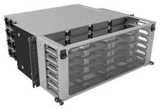 Выдвижная коммутационная панель Systimax Ultra High Density 4RU iPatch® ready до 24 модулей G2, до 288 LC Duulex или до 192 MPO, с фронтальным кабельным органайзером