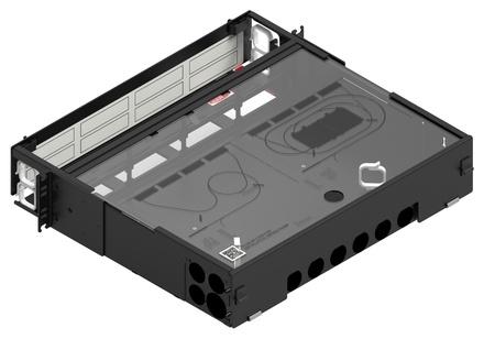 Коммутационная панель серии EPX выдвижная закрытая, до 8 модулей G2, до 96 LC Duplex, высота: 2RU