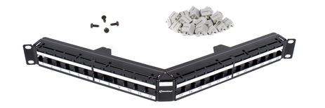 Угловая коммутационная панель серии GigaSPEED X10D® Xpress® M2400A U/UTP до 24хRJ45 гнёзд Systimax Cat.6A и Cat.6, высота: 1RU
