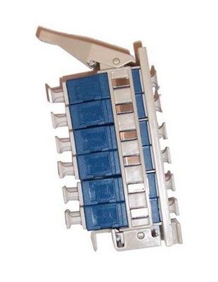 Комплект адаптеров для монтажного бокса BUDI, 12xSC/UPC, цвет: синий