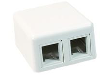 Розеточная коробка Modular Jack Boxes для любых SL гнёзд 2-портовая, цвет: бeлый