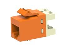 Гнездо SL10G SL110 jack, Cat.6A, раскладка пар: T568A T568B, solid: 22AWG-24AWG, stranded: 24AWG-26AWG, цвет: оранжевый