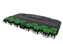 Модуль EHD 12LC APC PC Duplex/2xMPO12(m) SM Method A Pairs straight, выравнивающие штырьки: да, пылезащитные заглушки: да, цвет: зелёный