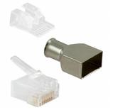 Модульная вилка Cat.6; экранированная; Тип проводника: Solid; уп.: 100 шт.