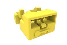 Блокиратора порта LC, цвет: жёлтый, уп.: 25