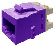 Гнездо KJ10G jack, Cat.6A, раскладка пар: T568A/T568B, solid: 22AWG-24AWG, stranded: 24AWG-26AWG, диаметр кабеля мм: 7,24, цвет: фиолетовый