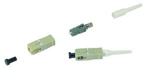 Соединитель LazrSPEED®, OptiSPEED® Behind The Wall Pre-Radiused SC Connector MM для волокна 0.9 mm, цвет: бежевый