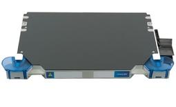 Шасси FACT™ Splice-Patch 48xLC/APC SM и C-grade пигтейлы, поддон для гильз SMOUV, организация кабеля: left-hand patch, длина кабеля м.: 10; тип кабеля: 48 волокон универсальный Microsheath cable, G657A1, чёрный, EN50575 CPR, EuroClass Dca; цвет: серый, высота: 1E=0.7RU