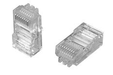 MP-88U-R-5: Модульная вилка RJ45 8-поз./8-конт. Cat.5; для круглого кабеля D=5,1, d=0,86-0,99, AWG:26-24; уп.: 500шт.