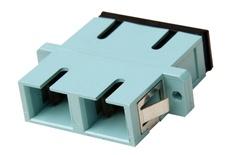 Адаптер SC/UPC Duplex, втулка: керамика, фланцы: да, цвет: морской волны