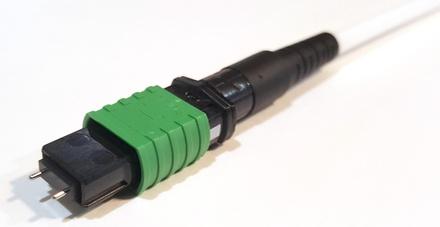 Разъём TeraSPEED® QWIK-FUSE MPO12/APC со штырьками для полевой установки на ленточный кабель
