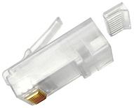 MP-6AU-Plug-A-1: Модульная вилка RJ45 8-поз./8-конт. Cat.6A/6; для круглого кабеля, d=0,89-1,09, AWG:26-23; уп.: 100шт.