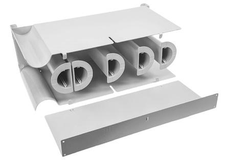 Горизонтальная панель с 5 полукруглыми барабанами для хранения избытков кабеля для шкафов FIST™ GR2/3, Высота: 1RU, цвет: серый