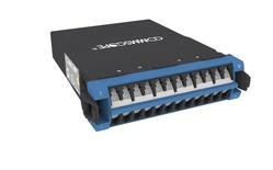 Модуль G2 OS2 TeraSPEED® 12xLC Duplex - 2xMPO12(m) Method A Pair Straight, шторки: есть, цвет: синий