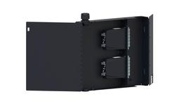 Настенный монтажный бокс на 2 кассеты G2 двусекционный с дверцами, ВхШхГ: 280х330х64