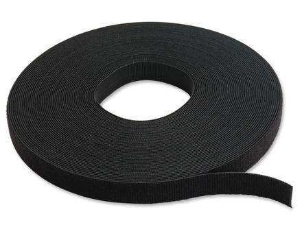 """Лента для стяжки кабелей текстильная типа """"Velcro"""" 15х4572 мм, цвет: чёрный"""