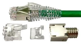 MP-6AS-C-5: Экранированная модульная вилка RJ45 8-поз./8-конт. Cat.6A; для круглого кабеля D=5,7-7,0, d=0,89-1,09, AWG:26-23; t=-40 - +60 град.; уп.: 500шт.