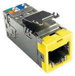 Экранированное гнездо RJ45 AMPTWIST SLX, Cat.6, цвет: жёлтый