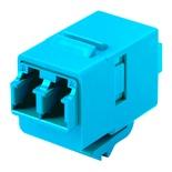 Гнездо SL-типа-соединитель LC Duplex SM/MM, цвет: аквамарин