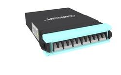 Модуль G2 MPOptimate® OM4 LazrSPEED® 550 6xLC Duplex - MPO12(m) Method A Pair Flipped, шторки: есть, цвет: бирюзовый