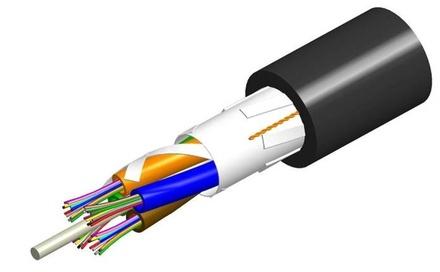 Универсальный оптический кабель, волокон: 6, Тип волокна: G.652.D and G.657.A1, TeraSPEED®, конструкция: LTS волокна в 250mk буфере, в модулях вокруг диэлекетрического силового элемента, изоляция: PVC UV stabilized Riser, диаметр: 10,4 мм, -40 - +70 град., цвет: чёрный