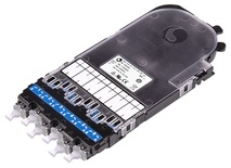 Кассета CHD ULL OS2 G.657.A2 6xLC Duplex в комплекте с пигтейлами и поддоном, Method A, цвет: синий