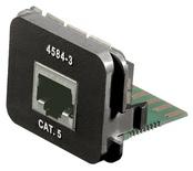 Адаптерная вставка AMP CO™ Plus Cat.5E 1xRJ45 Ethernet, Цвет: чёрный (RAL 9005)