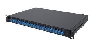 Выдвижная коммутационная панель 24xLC/UPCDuplex SM, Глубина: 300 мм, цвет: чёрный