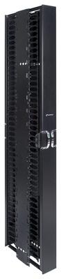 Комплект вертикального кабельного органайзера двустороннего с дверцами; высота мм: 2438; ширина мм: 152; цвет: черный