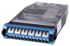 Кассета G2 SM 12хLC Duplex с держателем сплайсов, с пигтейлами, цвет: синий