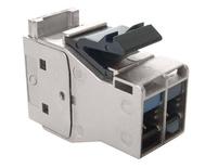 Экранированное гнездо AMPTWIST 7aS, кабельный ввод сзади (180 град.), Class Fa