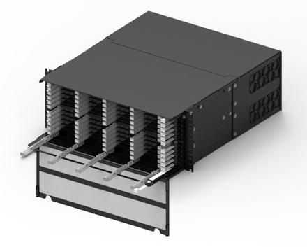 Модульная выдвижная коммутационная панель SYSTIMAX® CHD, до 48 модулей CHD ULL (до 288 LC Duplex или MPO), Высота: 4RU, цвет: чёрный